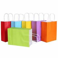 Small Color Kraft Paper Bags Gift Bags Solid Matte Colors Party Candy Bags