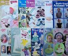 Crochet PATTERNS Baby DRESS PLAYSUITS CHRISTENING BOOTIES SOCKS *YOU CHOOSE