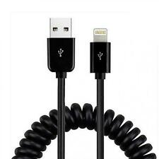 PREMIUM COILED USB CABLE POWER WIRE RAPID CHARGE SYNC CORD for iPad iPhone iPod