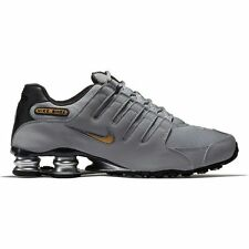 Nike Men's Shox NZ Running Shoes Synthetic Leather  Wolf Grey/Metallic