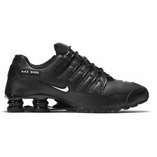 Nike Men's Shox NZ Running Shoes Synthetic Leather  Black/White