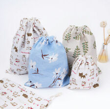 Cute Cotton Drawstring Bag Back Pack Sack Gym Tote Bag School Sport Shoe Pouch