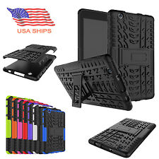 "For LG G PAD 3 X 8.0"" Rugged Shockproof Hard Tire Tread Guard Case Stand Cover"