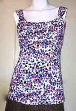 NWT Ann Taylor Painters Dot Sleeveless Shirred Empire Knit Top  $35  NEW