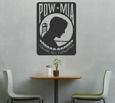 Large POW/MIA Prisoner of War/Missing in Action Vinyl Auto Graphic Decal Sticker