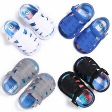 Baby Kids Girls Boys Soft Sole Crib Sandals Toddler Hollow Sneakers Shoes 0-18M