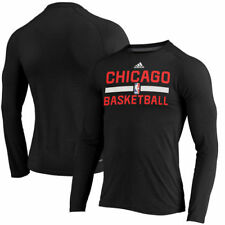 Chicago Bulls adidas On Court Ultimate Long Sleeve climalite T-Shirt - NBA