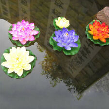 Artificial Lotus Water Lily Floating Flower Garden Pool Pond Tank Plant Ornament