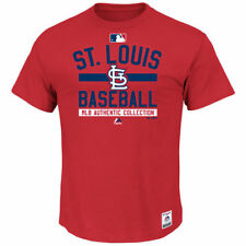 St. Louis Cardinals Majestic Ac Team Property  T-Shirt - Red