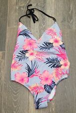 Victoria's Secret PINK Moonray Floral Plunge One Piece Bathing Swim Suit