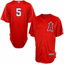 Albert Pujols Los Angeles Angels Majestic Cool Base Player Jersey - Red - MLB
