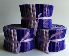 """20-2.5"""" Assorted Purple Jelly Roll 100% Cotton Quilting Fabric"""