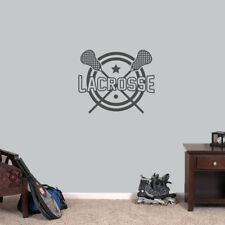 """Lacrosse Sports Wall Decal - 24"""" wide x 20"""" tall"""