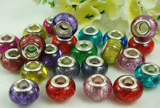 Mix murano DIY LAMPWORK Charm bead fit European Bracelet beads wholesale u pick