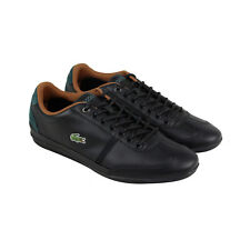 Lacoste Misano Sport 317 1 Mens Black Leather Lace Up Lace Up Sneakers Shoes