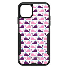 OtterBox Commuter for iPhone 5C 5 SE 6 S 7 8 PLUS Purple Pink Cartoon Whales