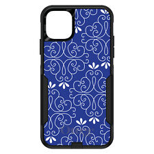 OtterBox Commuter for iPhone 5 SE 6 S 7 8 PLUS X Dark Blue White Floral