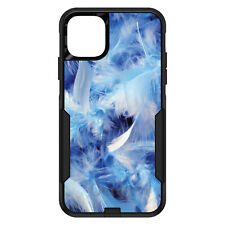 OtterBox Commuter for iPhone 5 SE 6 S 7 8 PLUS X Blue Feathers