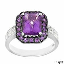 Sofia Sterling Silver Amethyst or Garnet and White Topaz 7