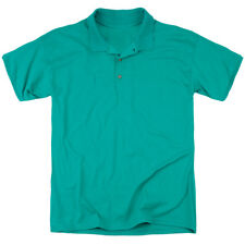 Kung Fu Panda Drago Po (Back Print) Mens Polo Shirt Kelly Green