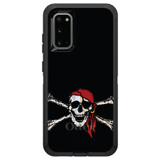 OtterBox Defender for Galaxy S5 S6 S7 S8 S9 PLUS Black Red Pirate Flag