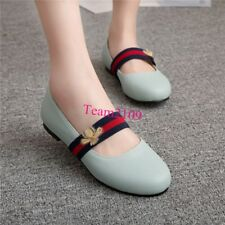 Lolita Women's Mary Jane leisure Loafers Flat Round Toe Ballet Shoes US Size &&T