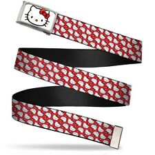 Hello Kitty Face Fcg White Bo Chrome Mini Hello Kitty Flip Faces Red Web Belt
