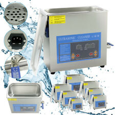 2-30L Industrial Ultrasonic Cleaner LCD Digital Stainless Steel Heater+Timer