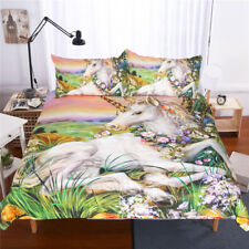 Unicorn Painting 3D Animal Quilt/Duvet Cover and Pillow Cases Bedding Cover Set