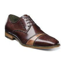 Stacy Adams Talbot cap toe oxford Mens shoes Brown buffalo leather 25125-249