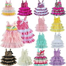 Flower Girl Dress Lace Formal Princess Pageant Wedding Birthday Party Bridesmaid