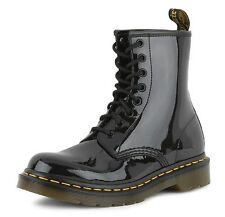 Dr Martens 8-Eye 1460 W Black Patent Lamper Women Lace Up Leather Boots UK3-6