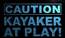 """16""""x12"""" m590-b Caution Kayaker at Play Neon Sign"""