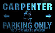 "16""x12"" n167-b Carpenter Parking Only Neon Sign"