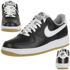 Nike AIR Force 1 Leather Lifestyle Sneaker boots black Men 488298 046