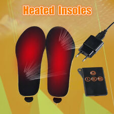 New Certified Rechargeable Electric Heated Insoles Pad Foot Warmer + Remote