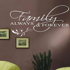 Family Wall Stickers Quotes Flower wall Decals words letters stickers