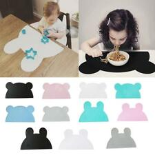 Creative Bear Rabbit Shape Insulation Kitchen Placemat Baby Kid Food Table Pad