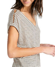 Lucky Brand Linen Stripe Tee Natural Stripe 7W63322