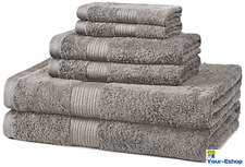 6 Piece Bath Towel Lot Set 100 Cotton Hand Towels Body Wash Cloth Sets Quick Dry