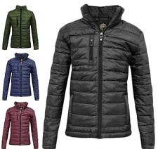 Mens Puffer Quilted Bubble MA1 Padded Jacket Boys Zip Detail Side Pocket Coat UK