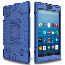 For Amazon Kindle Fire 8 2017 Protection Case Shockproof Soft Silicone Cover
