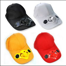 Sporting Solar Wind Power Hat Cap Cooling Cool Fan F Golf Outdoor Hiking LX