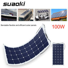 100W SemiFlexible Bendable Solar Panel Battery Charger for Boat Car Camping Tent