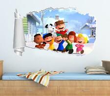 The Peanuts Movie Snoopy 3D Torn Hole Ripped Wall Sticker Decal Decor Art WT163