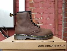 NEW DR MARTENS DELANEY DARK BROWN 15382201 for kids New in the Box.