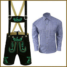 Oktoberfest Lederhosen Set German Bavarian Trachten Men Short Outfit Package G34