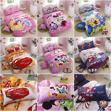 Cotton Mickey Mouse Duvet Quilt Doona Cover Set Single Size Cartoon Bed Covers