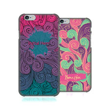 CUSTOM CUSTOMIZED PERSONALIZED VIVID SWIRLS BACK CASE FOR APPLE iPHONE PHONES
