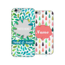 CUSTOM CUSTOMIZED PERSONALIZED DROPLET PATTERNS GEL CASE FOR APPLE iPHONE PHONES